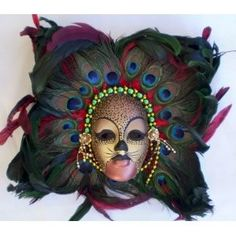 Mardi Gras Masks | ... mardi gras lady ceramic mask is hand painted in beautiful gold and