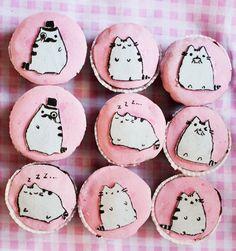 Pusheen party cupcakes