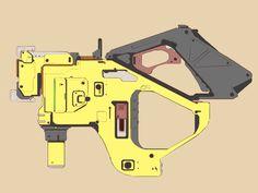 ArtStation - Some scifi pistol concepts, Lei Zhang
