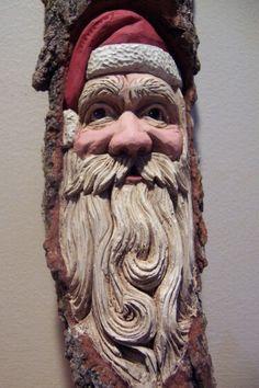 Santa Bark Carving
