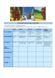 English teaching worksheets: The Gruffalo