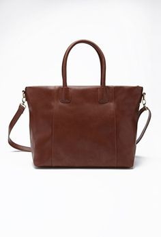 $25 Unstructured Faux Leather Tote | Forever 21 - 1000078900