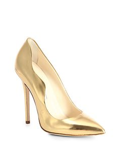 brian atwood heels down Gold Leather, Leather Pumps, Suede Shoes, Women's Shoes, Christian Louboutin, Brian Atwood Shoes, Unique Shoes, Shoe Art, Stiletto Pumps