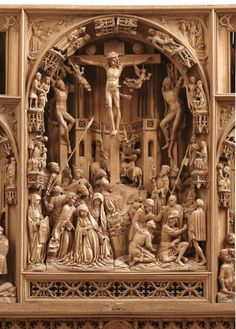 Center panel of the High Altar of Saint John's church in Osnabruck \\ Lower Saxony, Germany