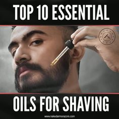Essential oils are a great addition to shaving products and knowing which essential oil works best for you and your shaving needs will make your experience more comfortable and luxurious.  Which essential oil worked perfectly for you and your skin?  To know more about the Top 10 Essential Oils for Shaving, visit our website now.  #nakedarmor #wetshave #shaving #straightrazor #mensgrooming #mensgroomingtips #shavingtips #essentialoil #oliveoil #essentialoils #castoroil #shaveoil Shaving Products, Shaving Tips, Shaving Soap, Shaving Your Head, Top Essential Oils, Congested Skin, 10 Essentials, Even Out Skin Tone, Eucalyptus Oil