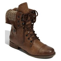 Cablee Boot in Brown Leather by Steve Madden @ Apparel Addiction -... ($169) ❤ liked on Polyvore