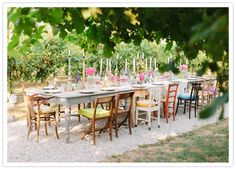 Multi chairs wedding eclectic
