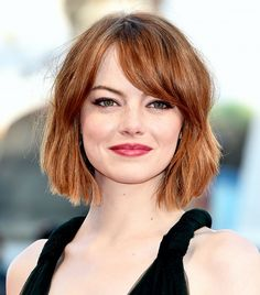In love with Emma Stone's blunt chop