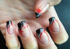 Go Huskers nails. Nail Polish Designs, Cute Nail Designs, Home Design, Broncos Nails, Football Nail Art, Uñas Fashion, Painted Toes, Cool Nail Art, Spring Nails
