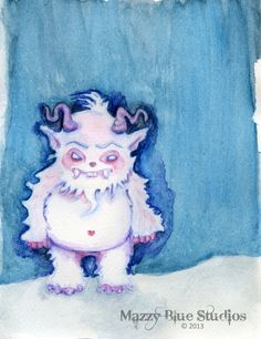 Children's Art  A Yeti Named AL 11x17   by MazzyBlueStudios, $30.00