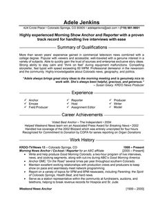 news reporter resume example 768 httptopresumeinfo2014