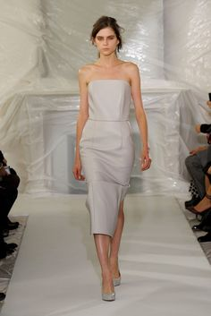 Martin Margiela's neutral leather dress