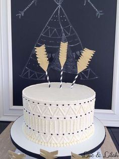 Awesome cake at a tribal birthday party! See more party ideas at CatchMyParty.com!