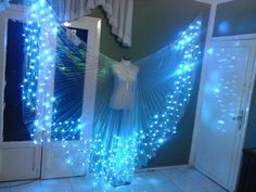 New Egyptian handmade bellydance Led Wings blue by JasmineBazzar