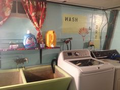 1950s laundry room diy paint