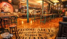 Villains offers turn of the century interior, with elements which compares the Cape Town hotspot to something out of a Quentin Tarantino movie. House Bar, Nightclub, Bars For Home, Cape Town, Ale, Travel, Trips, Liquor Cabinet, Ale Beer