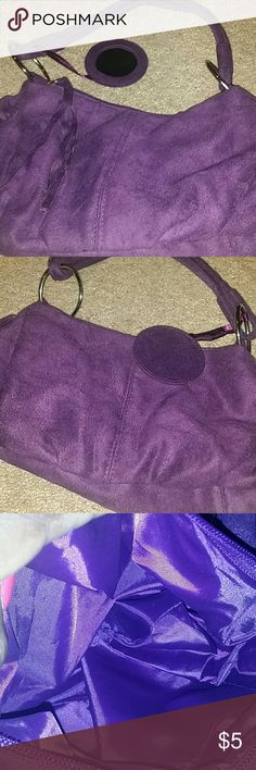 Ladies Handbag Purple Small  Attached to handbag a small compact mirror where u can check your face or makeup Clean inside and out Bags Shoulder Bags