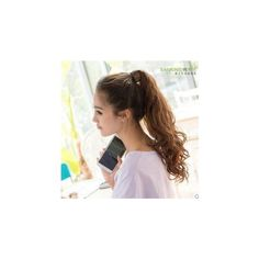 Ponytail Extension - Wavy ($17) ❤ liked on Polyvore featuring beauty products, accessories and wig