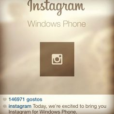 Great news!!! Do you have a #nokia windows phone? Download it now http://instagram.com/download/windows