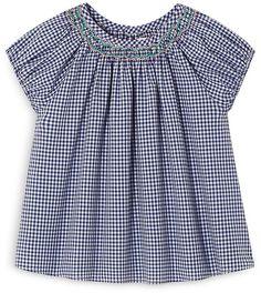 Jacadi Infant Girls' Gingham Top Little Fashion, Gingham Check, Smocking, Kids Outfits, Infant Girls, Hopscotch, Grandchildren, Kids Clothing, Cali