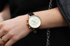 Olivia Burton black chrono watch
