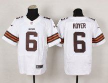 Cleveland Browns  6 Brian Hoyer Elite Road White Jersey 05626d308
