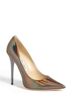 Jimmy Choo 'Anouk' Pump available at #Nordstrom | Your feet can glow like the Northern Lights for just $750.00.