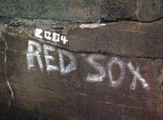 2004 Red Sox graffiti Mill Pond Water Fall Holliston, MA