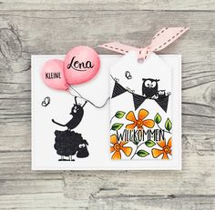 wieesmirgefaellt.de | Karten für Kinder - cards for kids | catsonappletrees Card Tags, Cards, Apple Tree, Funny Animals, Scrap, Card Making, Paper, How To Make, Diy