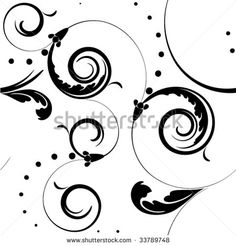 Scroll Backbones Template Craft Stencil Engraving Etching