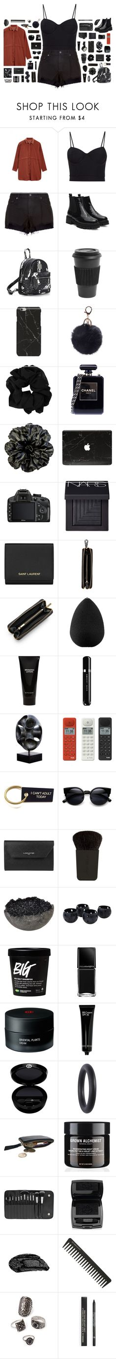 """""""Yoins // Sound"""" by blood-drops ❤ liked on Polyvore featuring Alexander Wang, rag & bone, Homage, Chanel, Sagebrook Home, Nikon, NARS Cosmetics, Yves Saint Laurent, Nomadic and Louis Vuitton"""