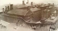a view of newcastle jail, there being eight executions carried out between 1901 and the prison was demolished in 1925 St James' Park, Great North, Britain Uk, North East England, Old Photography, Sunderland, Interesting History, Historical Pictures, Old Photos