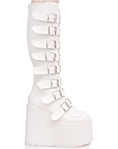 X Dolls Kill White Trinity Boots