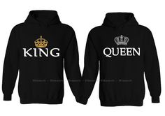 King and Queen Couples Hoodie