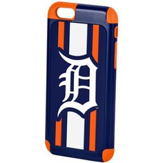 Forever Collectibles Detroit Tigers iPhone 6 Case ($25) ❤ liked on Polyvore featuring accessories, tech accessories and navy
