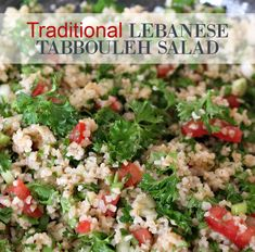 Traditional Lebanese Tabbouleh Salad