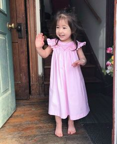 Blush Pink Heirloom Girls' Dress section of information related to. Occasion Spéciale, Pretty Hands, Girls Dresses, Summer Dresses, Smocking, Blush Pink, To My Daughter, Baby Kids, Kids Outfits