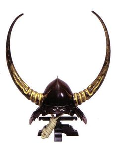 Japanese samurai helmet, Kabuto. Imagine yourself the person who is attacked by the warrior in this helmet. Pretty intimidating.