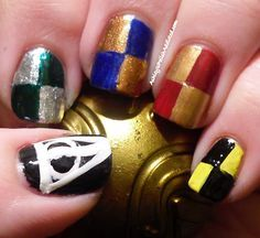 Nail art inspired by Harry Potter