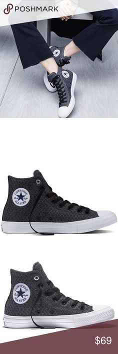 NWOT Converse Hi-Top Citi Space Mesh All Star 7 NWOT and comes with a shoe box that isn't original. Breathable mesh construction and comes with extra pair of white shoelaces. Small scuff on the rubber heel as seen above picture. No trades, offers welcome. Converse Shoes Sneakers
