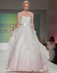 "Callie Tein's ""Laurel"" gown: Charleston Weddings Magazine's 2013 Spring Bridal Show. Photograph by Leigh Webber."