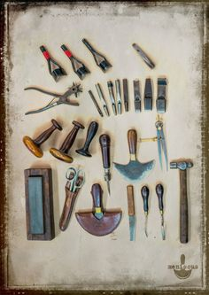 TOOLS OF THE LEATHER TRADE - Check out Mensicus Ltd on Facebook. New Zealand made Leathergoods.