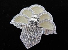 Art Deco 89 Mauboussin Fountain Brooch. Photo by Ivan Bilic