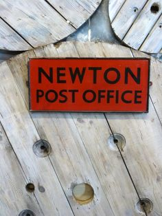 Antiques Atlas - Wooden Post Office Sign Vintage Advertising Signs, Vintage Advertisements, Industrial Signs, Wooden Posts, Office Signs, Mail Art, Red Background, Post Office, Mailbox