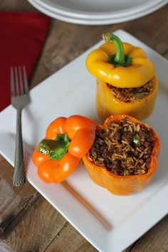 Stuffed bell peppers Italian style