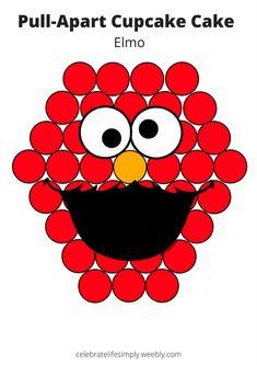 Sesame Street Sesame Street Ashley Mccrum cakes Sesame Street Elmo Pull-Apart Cupcake Cake Template Over 200 Cupcake Cake Templates perfect nbsp hellip Elmo Cupcakes, Elmo Cake, Cupcake Cakes, Diy Cupcake, Kitty Cupcakes, Snowman Cupcakes, Princess Cupcakes, Giant Cupcakes, Cup Cakes