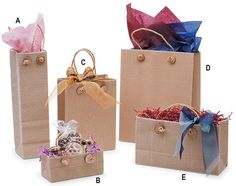 paper bags for packaging - purchase here: http://www.a-plasticbags.com/wholesale-gift-bags.aspx