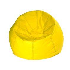 Classic Bean Bag Chair Color: Yellow Matte - http://delanico.com/bean-bag-chairs/classic-bean-bag-chair-color-yellow-matte-519433978/
