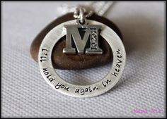 I'll Hold You in Heaven Hand Stamped Necklace by mamamiatina, $59.00
