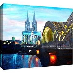 ArtWall Martina And Markus Bleichner Cologne Gallery-Wrapped Canvas Art, Size: 14 x 18, Multicolor